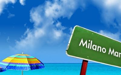 Spiaggia libera a Milano Marittima