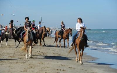 In spiaggia a cavallo