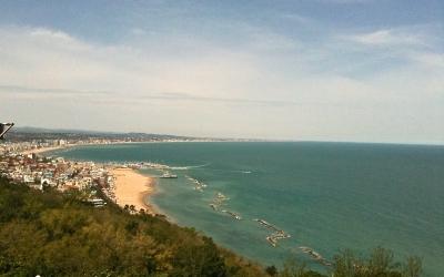 Veduta del mare adriatico da Monte San Bartolo