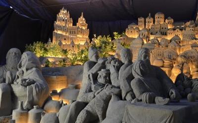 Presepe di sabbia a Rimini