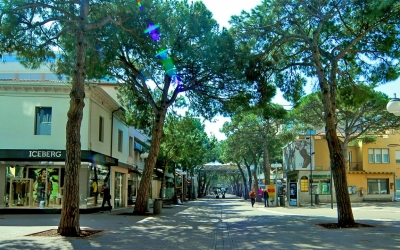 Viale Ceccarini a Riccione