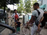 Questa mattina visita alla casa delle barche,<br>il Museo della Marineria.<br>Ci andiamo in bicicletta?!?!<br>Siamo prontiii!<br>Jeremie, Sabrina, Taoro,Tiara e Terenzio :-)