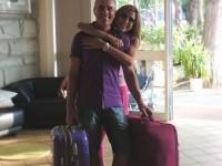 Fabio Rita e le valigie pendant