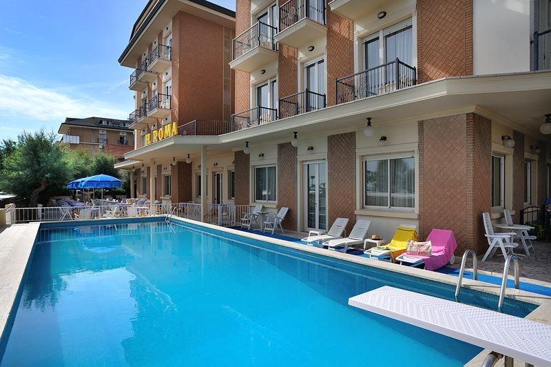 H tel roma bellaria 2 offres prix 2016 et photos - Hotel piscina roma ...