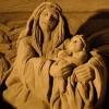 Presepe di sabbia a Rimin