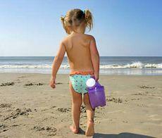 Bimbi in spiaggia a Riccione