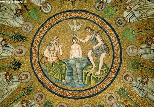 Ravenna, mosaici del Battistero