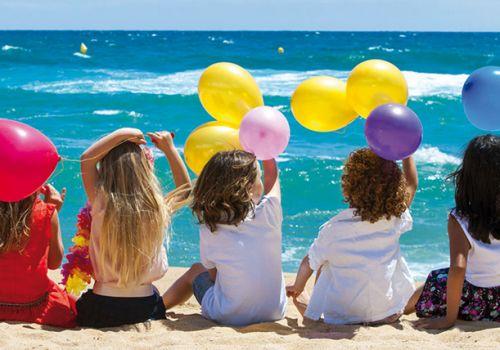 attività per bambini sulla spiaggia