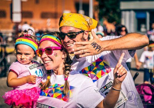 Color Run con la famiglia e i bambini
